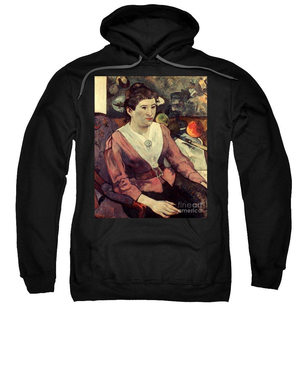 1890 Sweatshirt featuring the photograph Gaugin: Marie Derrien, 1890 by Granger