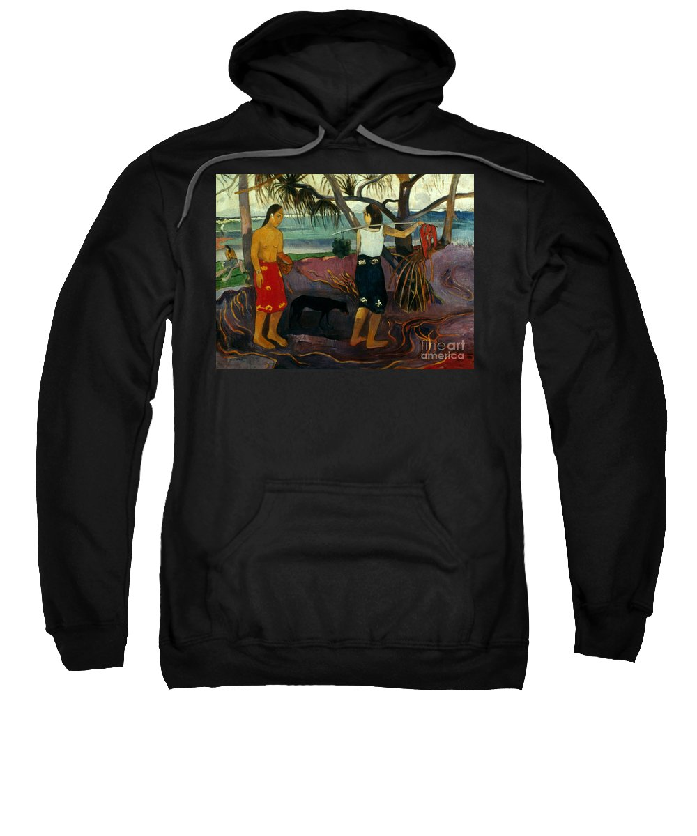 1891 Sweatshirt featuring the photograph Gauguin: Pandanus, 1891 by Granger