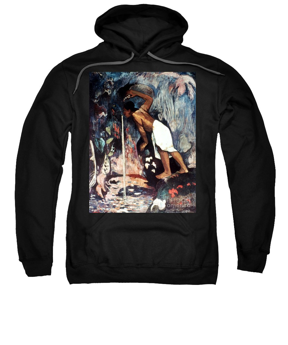 1893 Sweatshirt featuring the photograph Gauguin: Pape Moe, 1892 by Granger