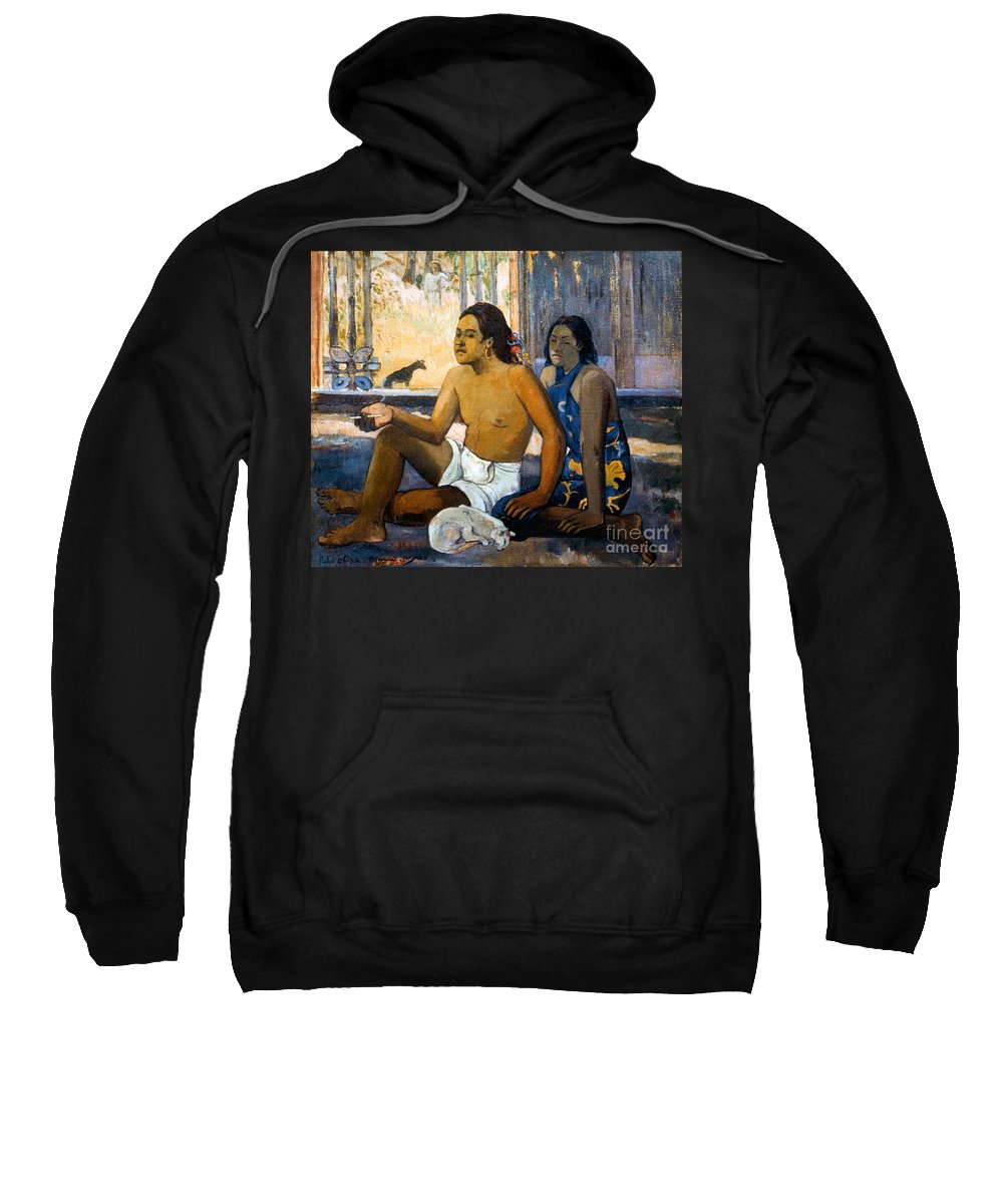 19th Century Sweatshirt featuring the photograph Gauguin:tahiti Women by Granger
