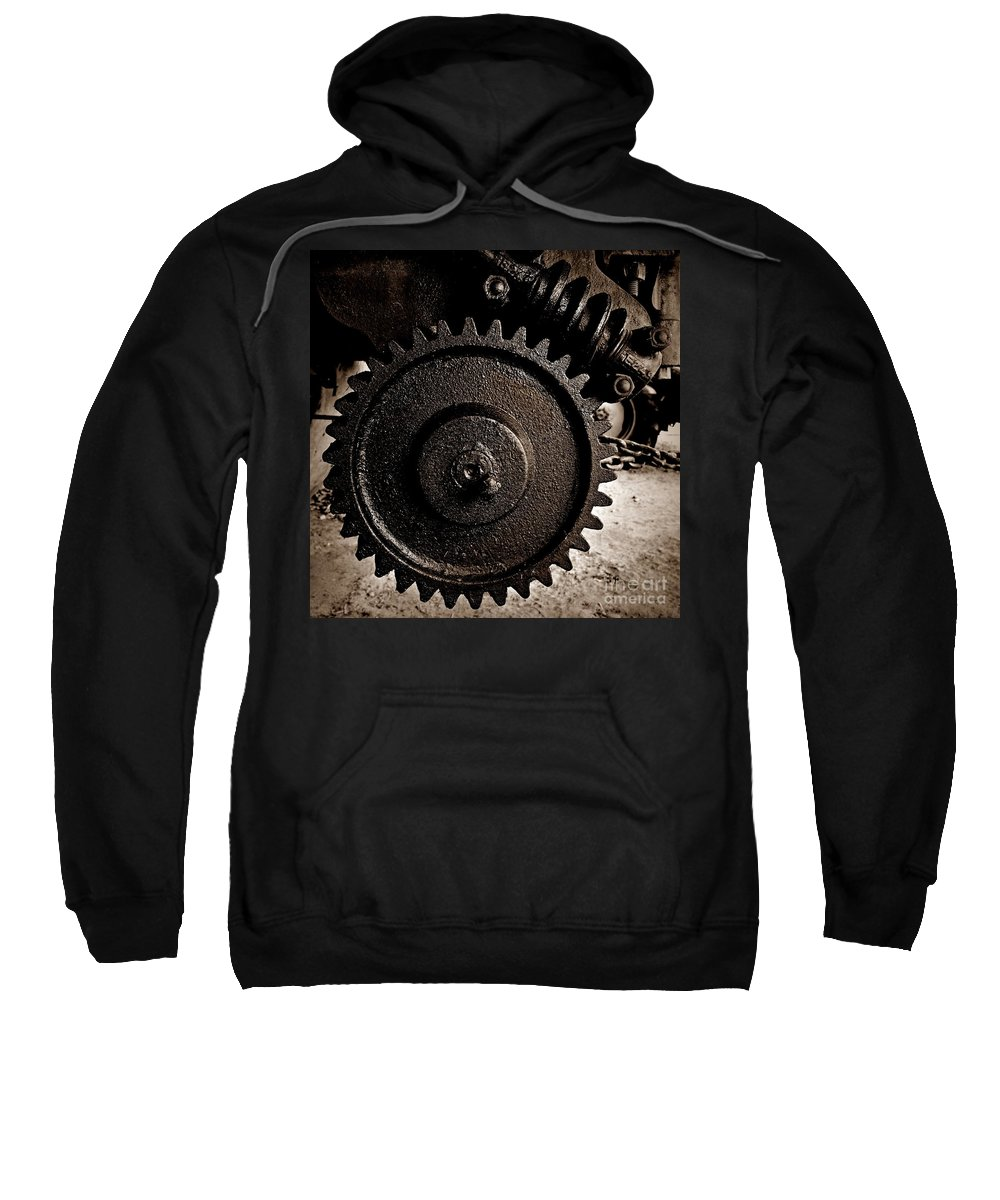 Gear And Screw Sepia 2 Sweatshirt featuring the photograph Gear And Screw Sepia 2 by Chalet Roome-Rigdon