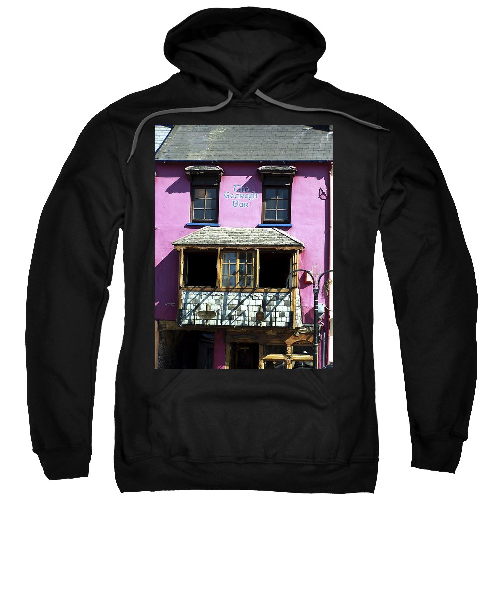 Irish Sweatshirt featuring the photograph Gearagh Pub In Macroom Ireland by Teresa Mucha