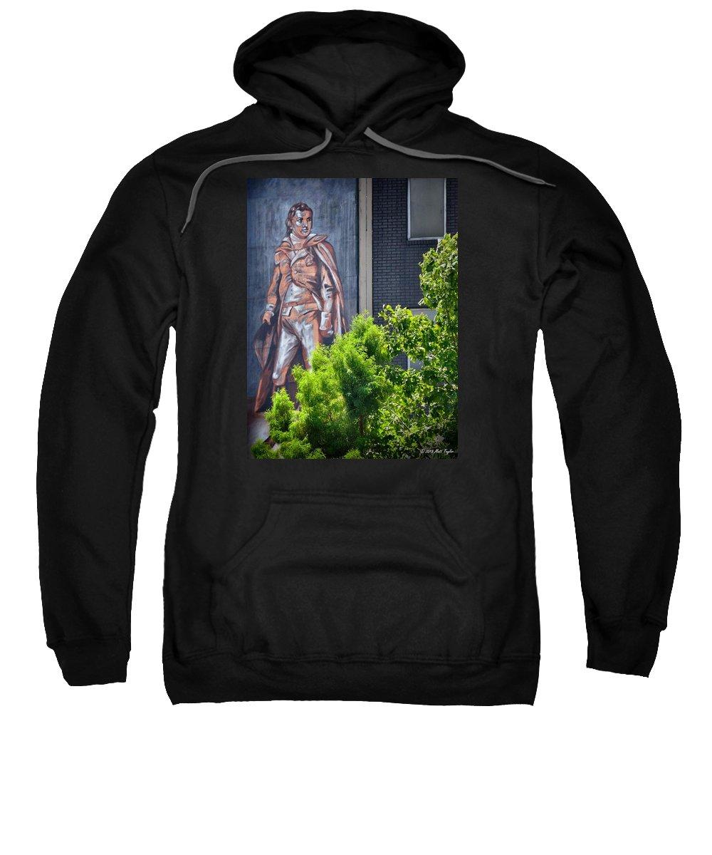 Outdoors Sweatshirt featuring the photograph General Nathanael Greene Mural by Matt Taylor