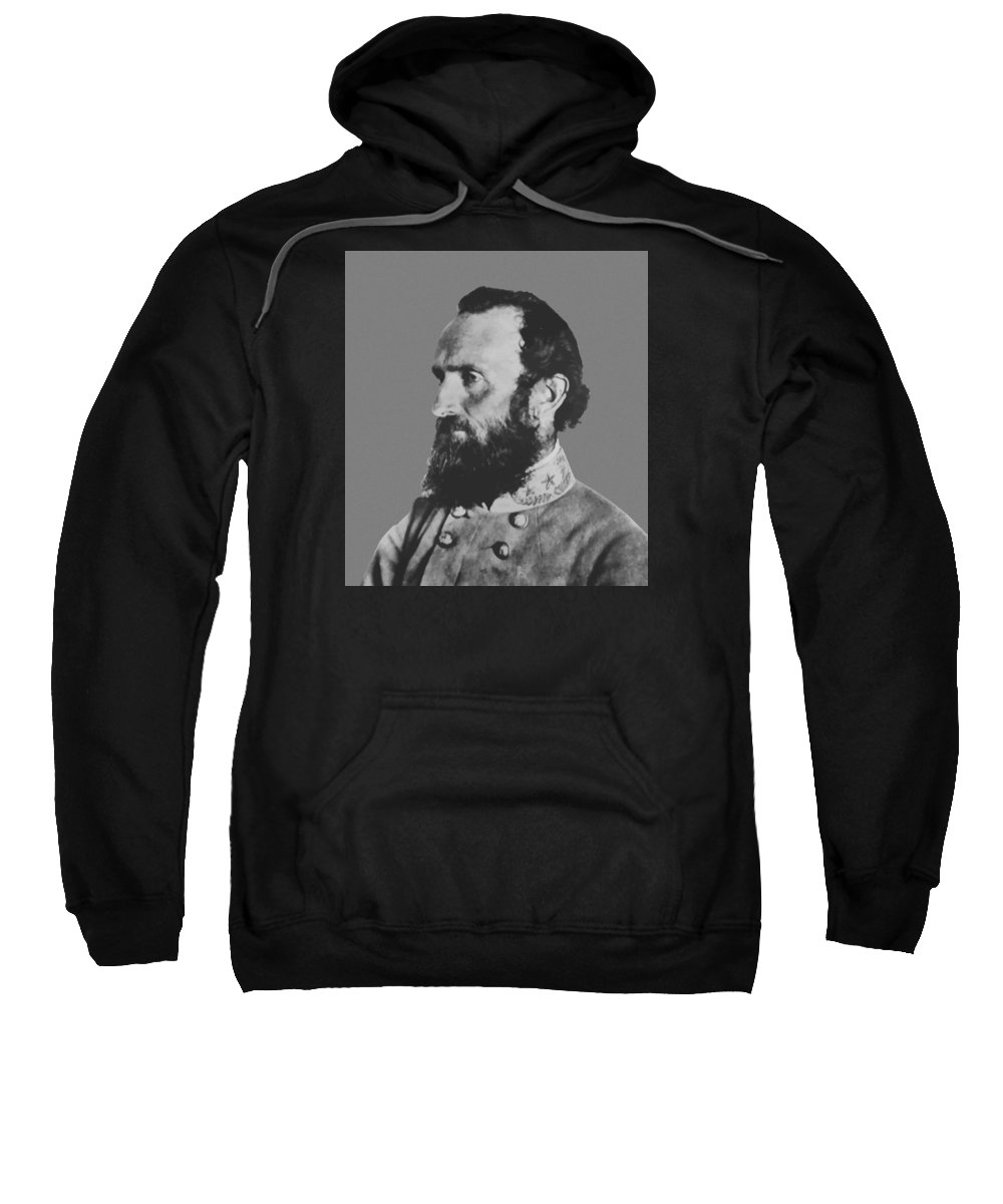 Stonewall Jackson Sweatshirt featuring the painting General Stonewall Jackson Profile by War Is Hell Store