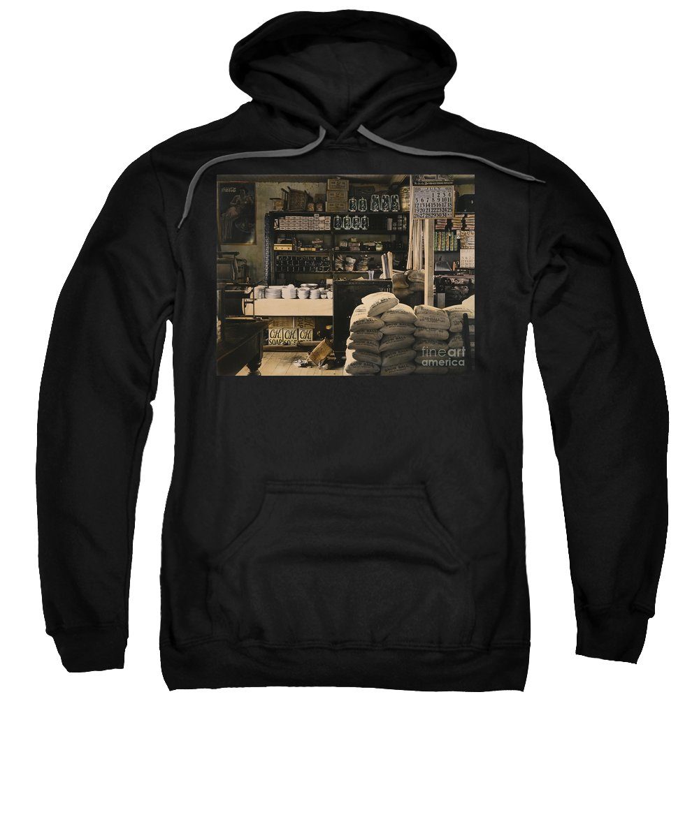 1936 Sweatshirt featuring the photograph General Store, 1936 by Granger