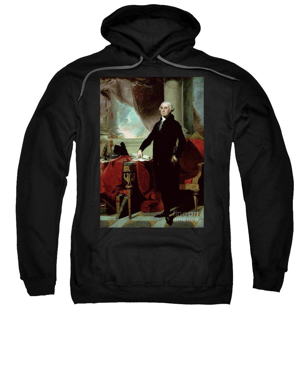 George Washington (1732-99) (colour Litho) By Gilbert Stuart (1755-1828) Sweatshirt featuring the painting George Washington by Gilbert Stuart