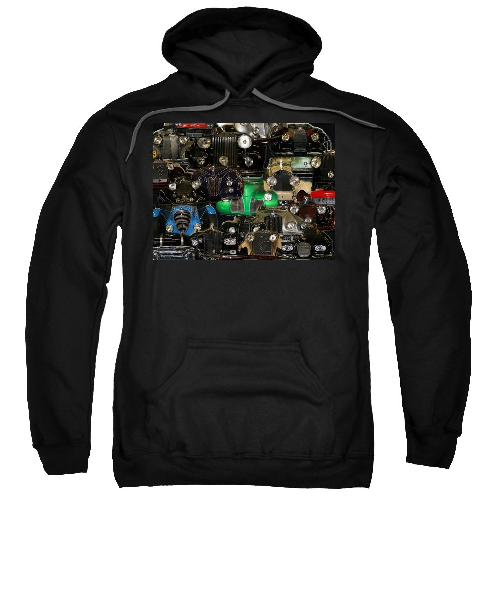 Car Grill Hood Vehicles Classic Automobile Sweatshirt featuring the photograph Gettin Grilled by Andrea Lawrence
