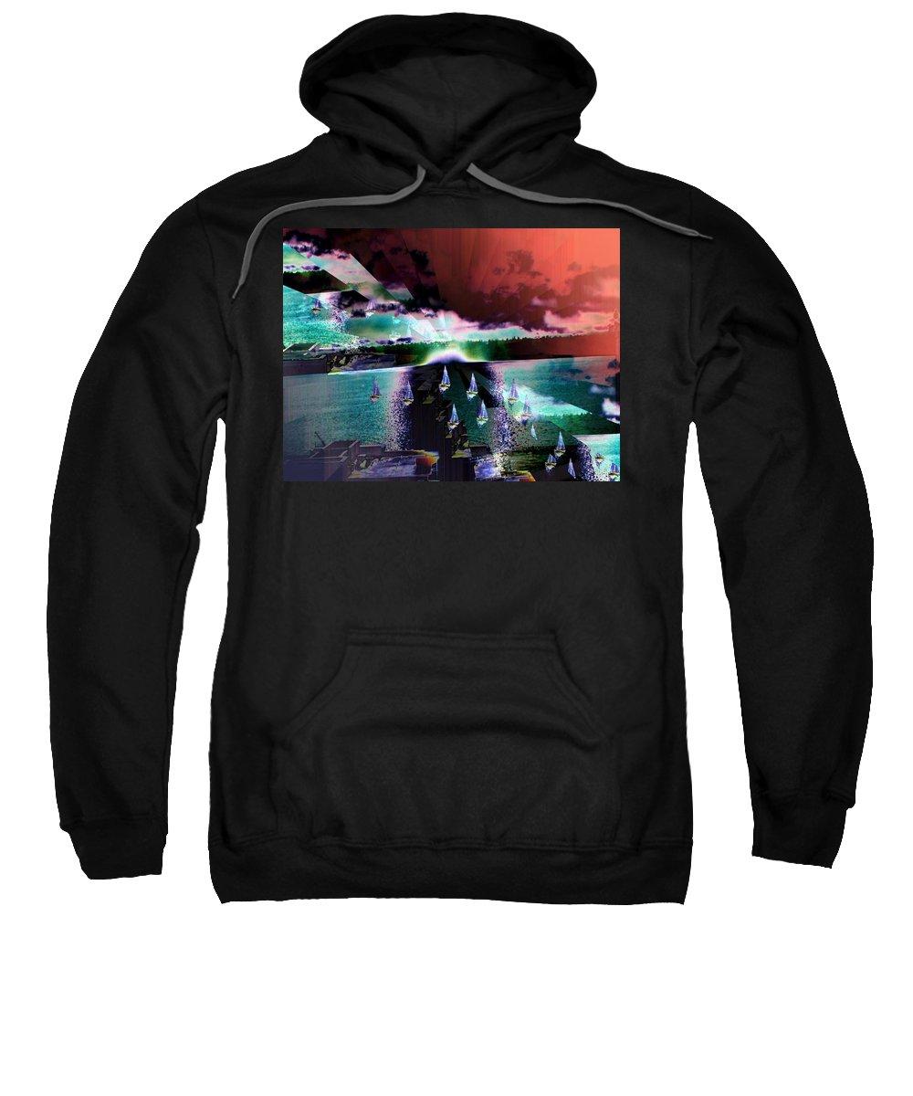 Seattle Sweatshirt featuring the digital art Ghost Regatta by Tim Allen