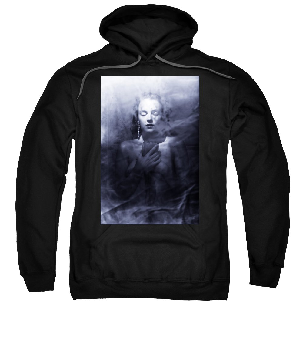 Woman Sweatshirt featuring the photograph Ghost Woman by Scott Sawyer