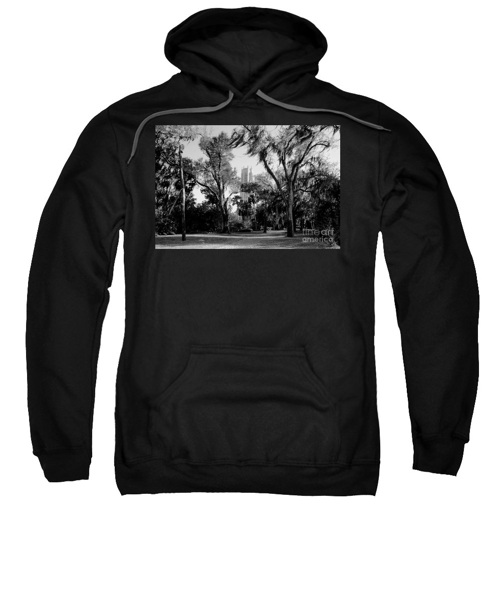 Bok Tower Sweatshirt featuring the photograph Ghostly Bok Tower by David Lee Thompson