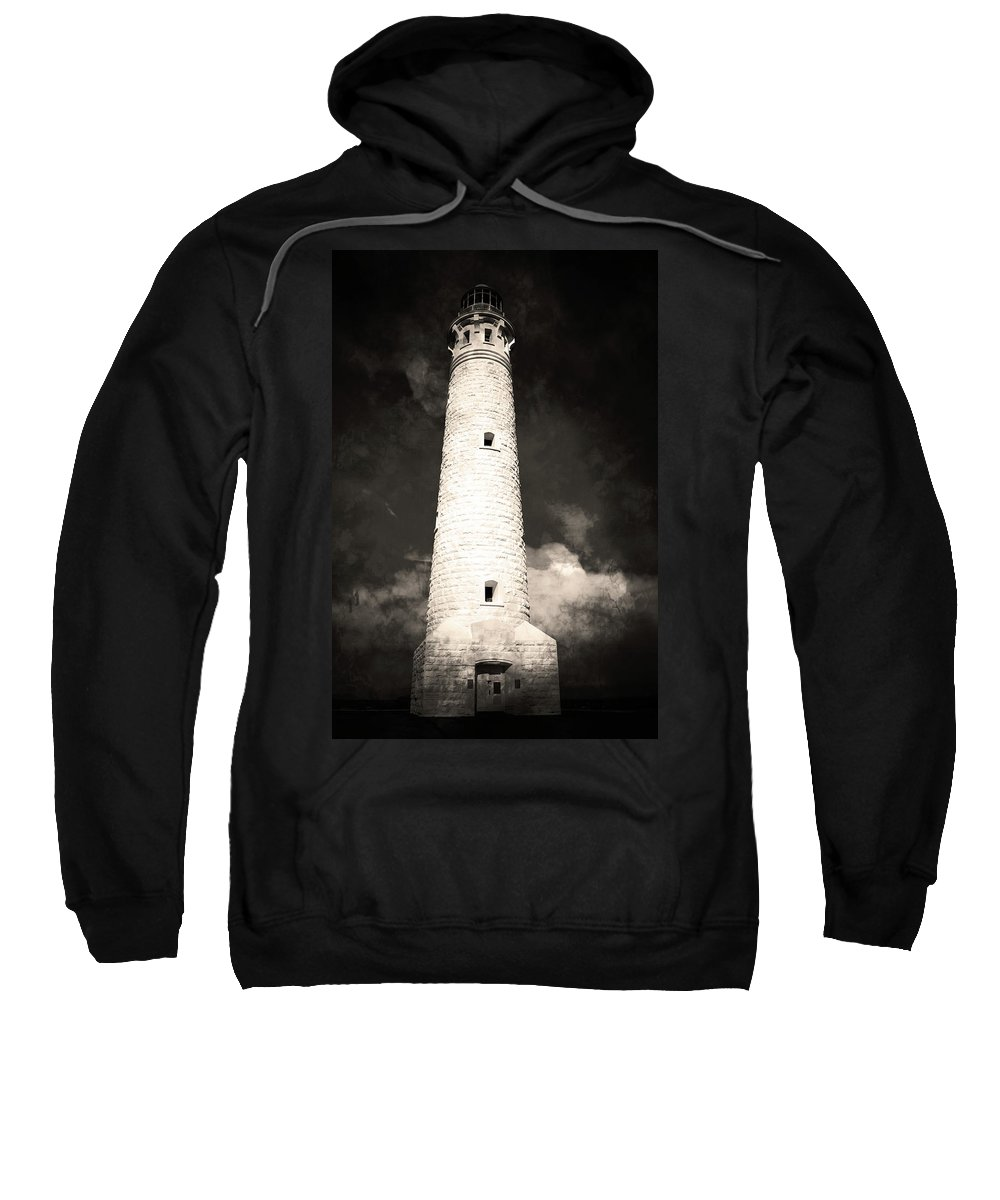 Light Sweatshirt featuring the photograph Ghostly Lighthouse by Phill Petrovic