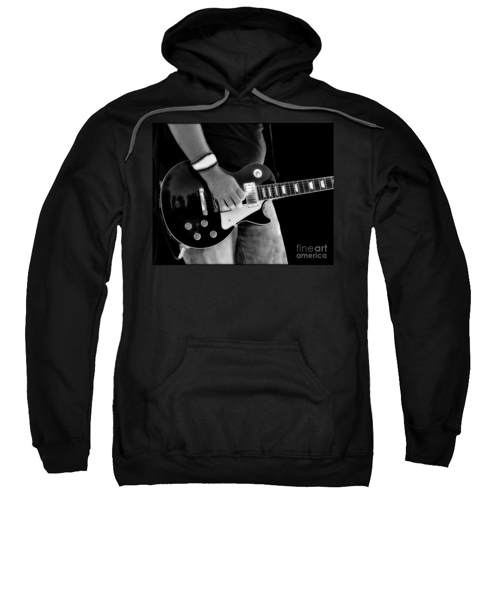 Gibson Sweatshirt featuring the photograph Gibson Les Paul Guitar by Randy Steele