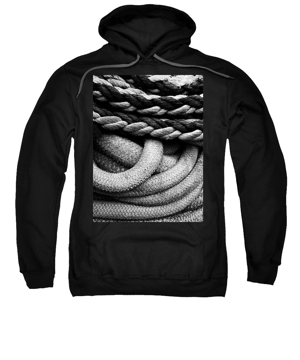 Give Them Some Rope Sweatshirt featuring the photograph Give Them Some Rope by Skip Hunt