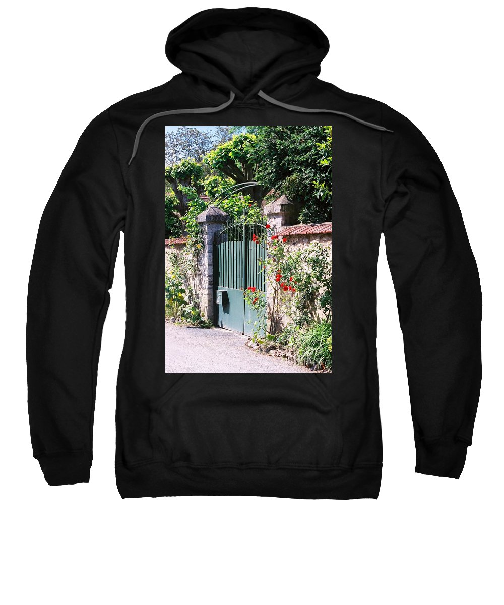 Giverny Sweatshirt featuring the photograph Giverny Gate by Nadine Rippelmeyer