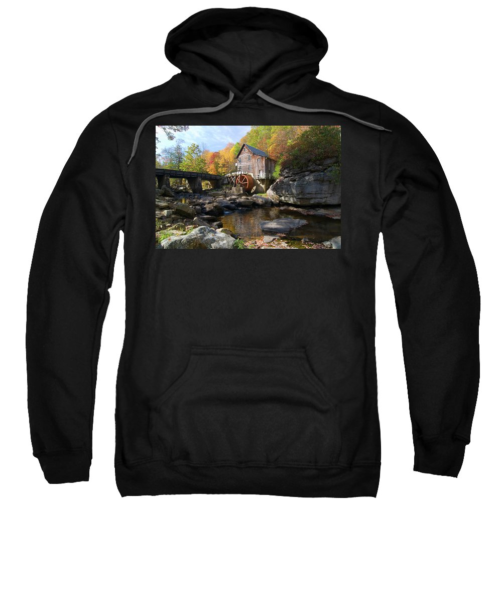 Mill Sweatshirt featuring the photograph Glade Creek Grist Mill by Steve Stuller