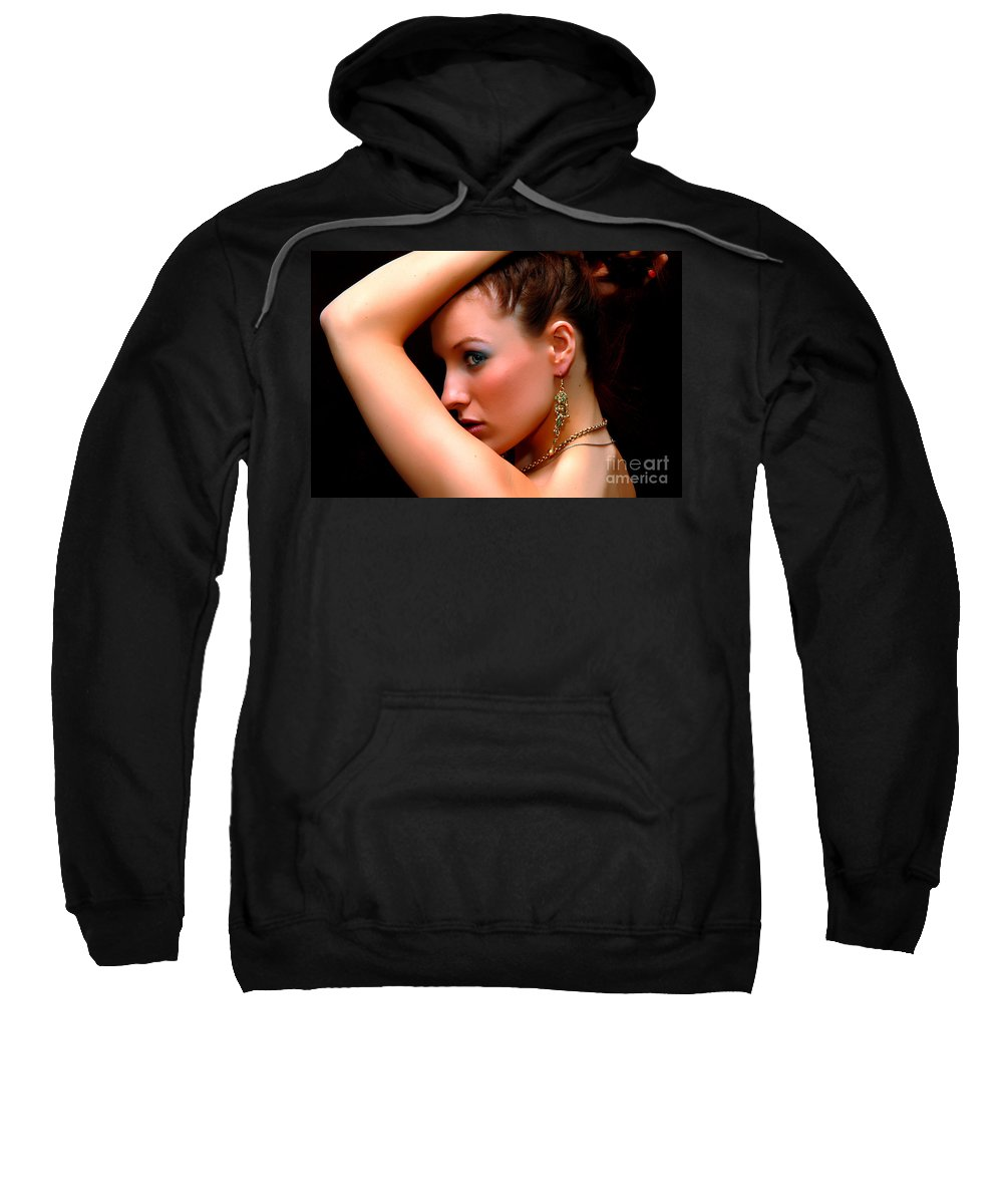 Clay Sweatshirt featuring the photograph Glam Girl by Clayton Bruster