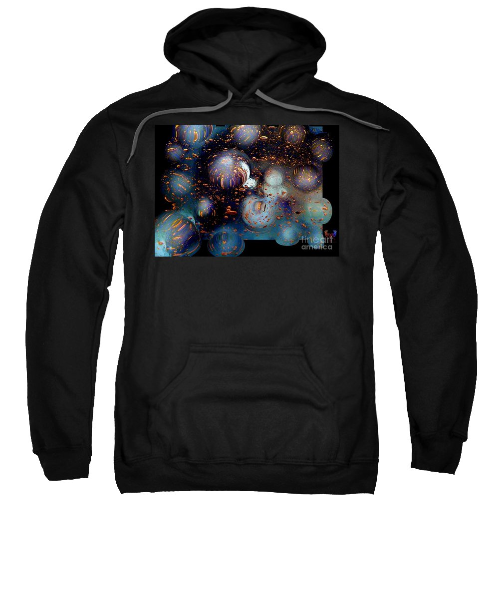 Colorful Sweatshirt featuring the photograph Glass Bubbles 1 by Dale Crum