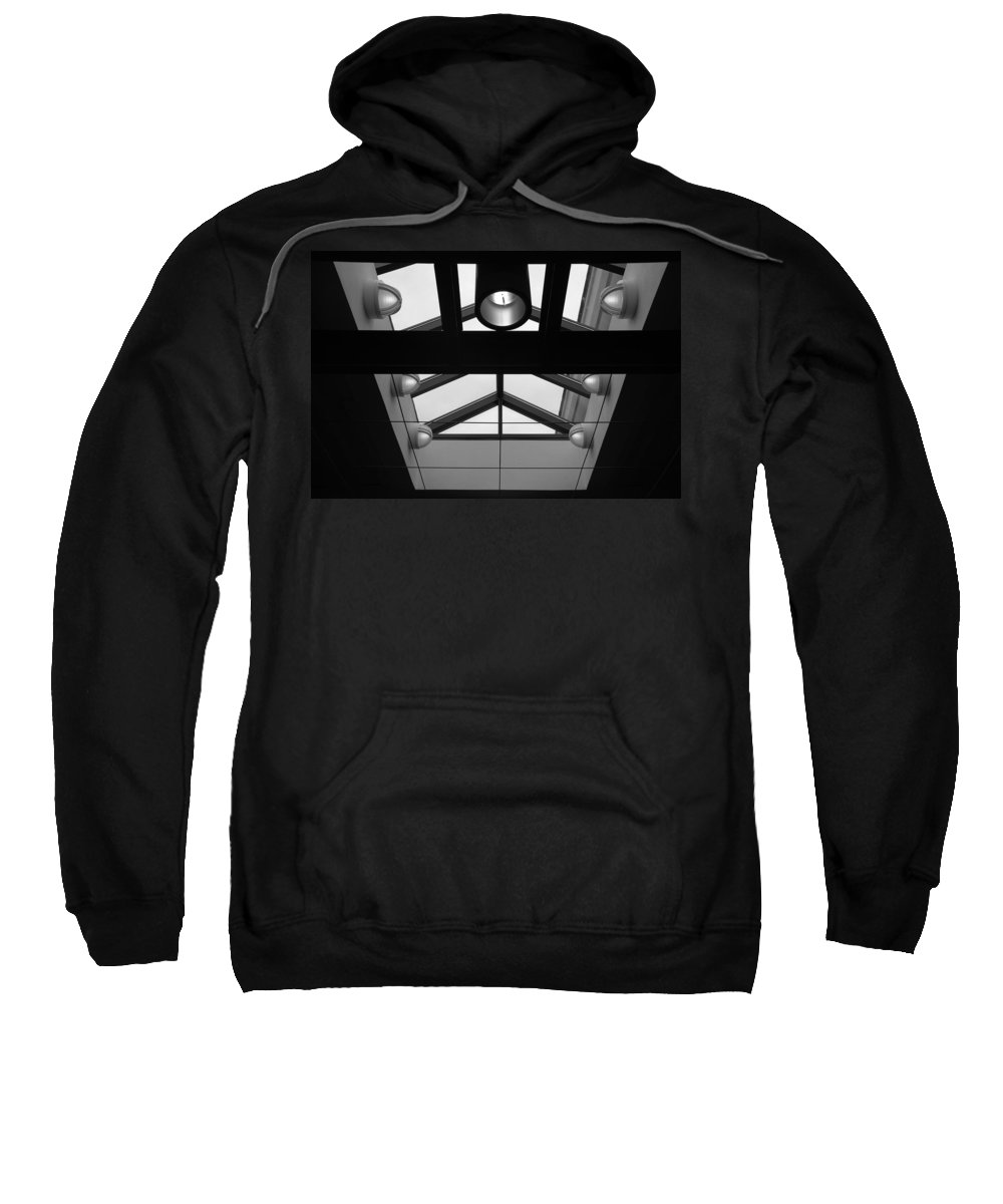 Black And White Sweatshirt featuring the photograph Glass Sky Lights by Rob Hans