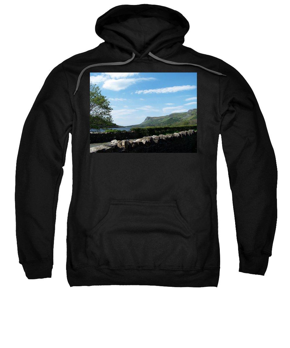 Irish Sweatshirt featuring the photograph Glencar Lake With View Of Benbulben Ireland by Teresa Mucha