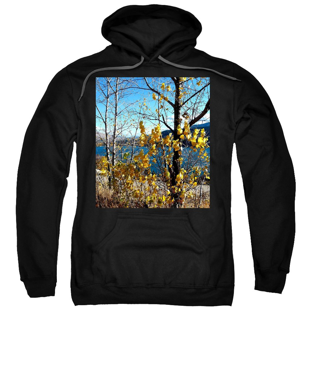 Kalamalka Lake Sweatshirt featuring the photograph Glimpse Of Kalamalka Lake by Will Borden