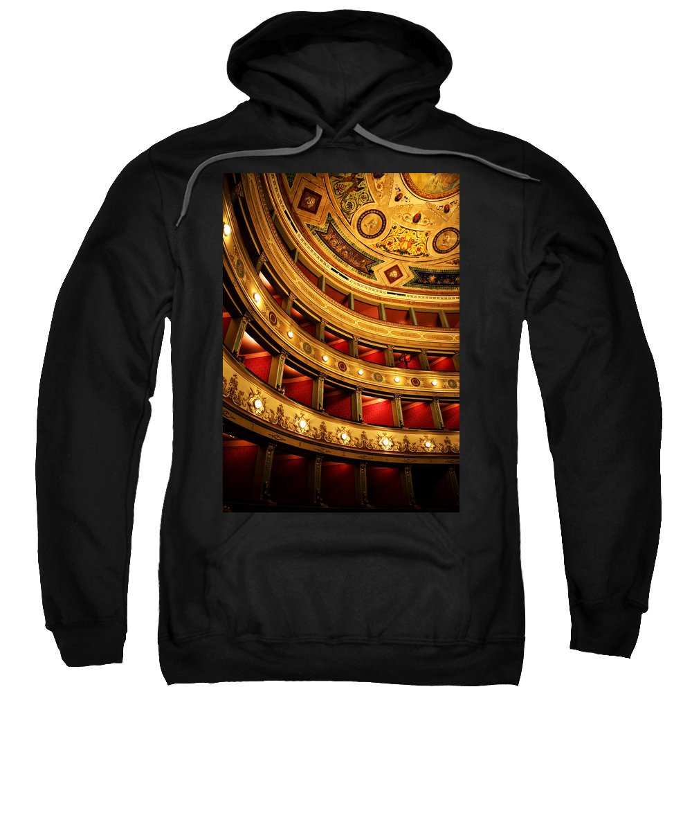 Theatre Sweatshirt featuring the photograph Glorious Old Theatre by Marilyn Hunt