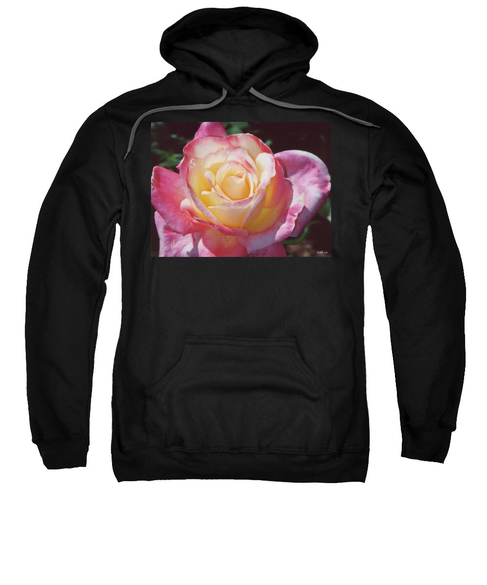 Sweatshirt featuring the photograph Glorious Pink Rose by Heather Kirk