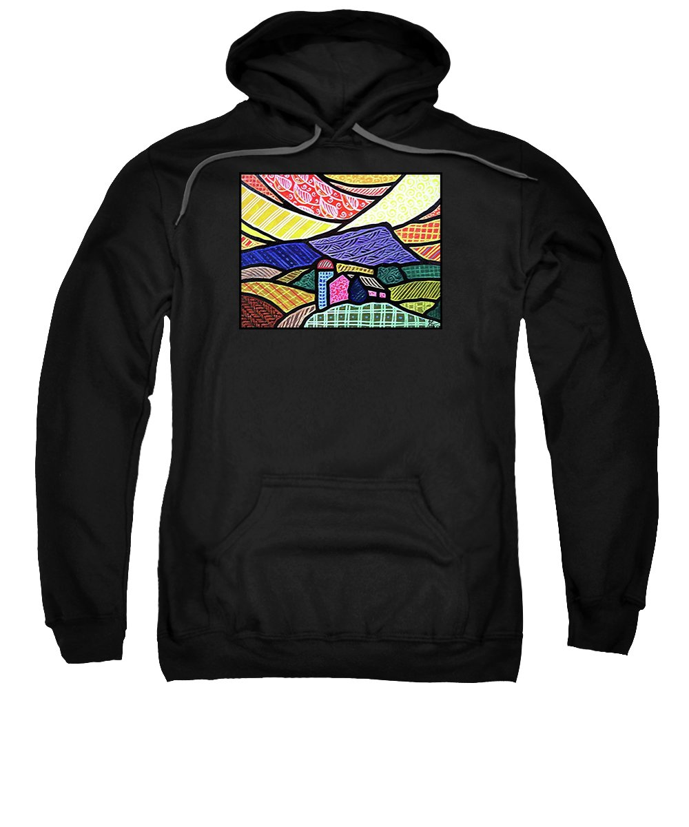 Quilts Sweatshirt featuring the painting Glorious Sunrise by Jim Harris