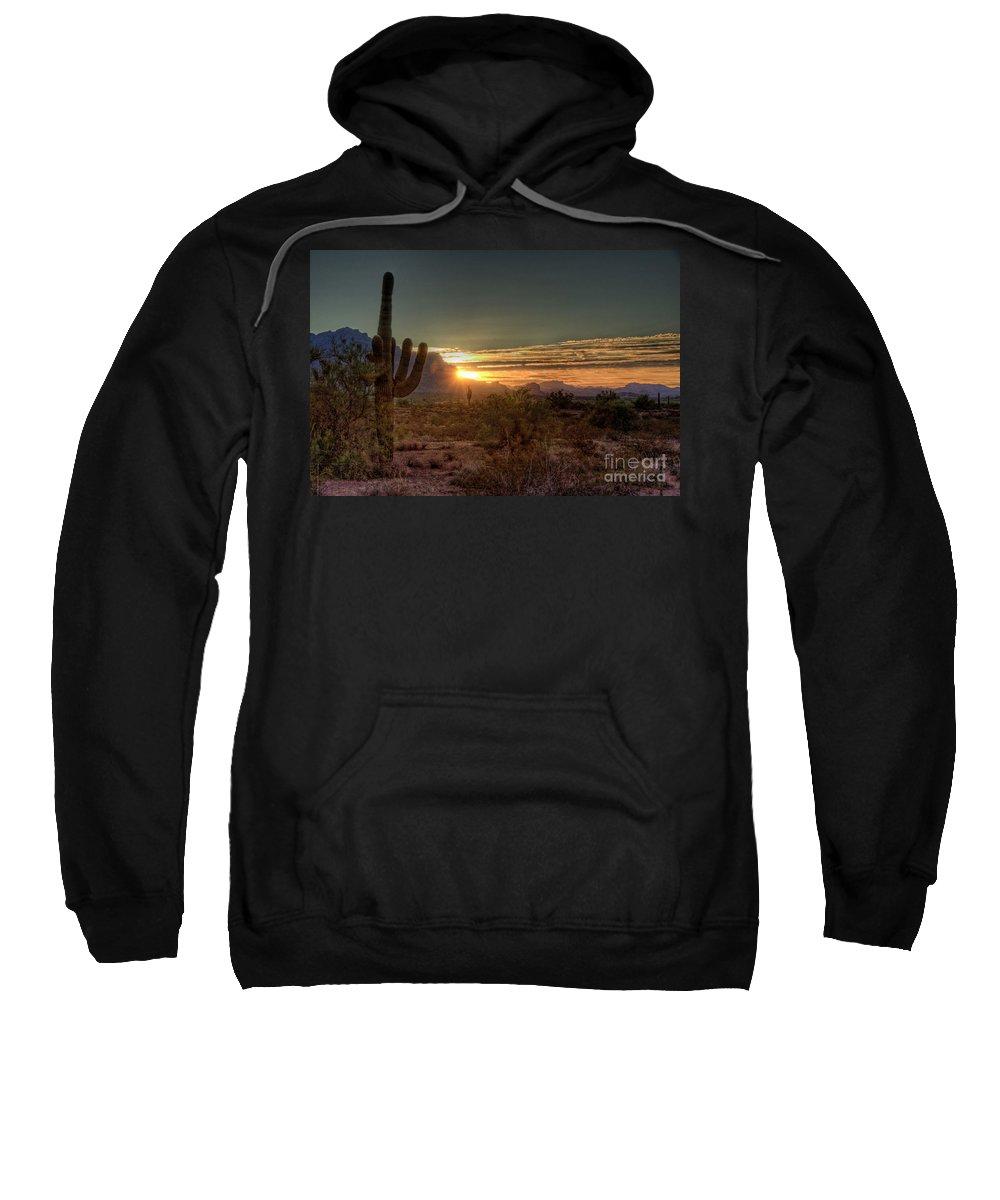 Arizona Sweatshirt featuring the photograph Glorious Sunrise by Saija Lehtonen