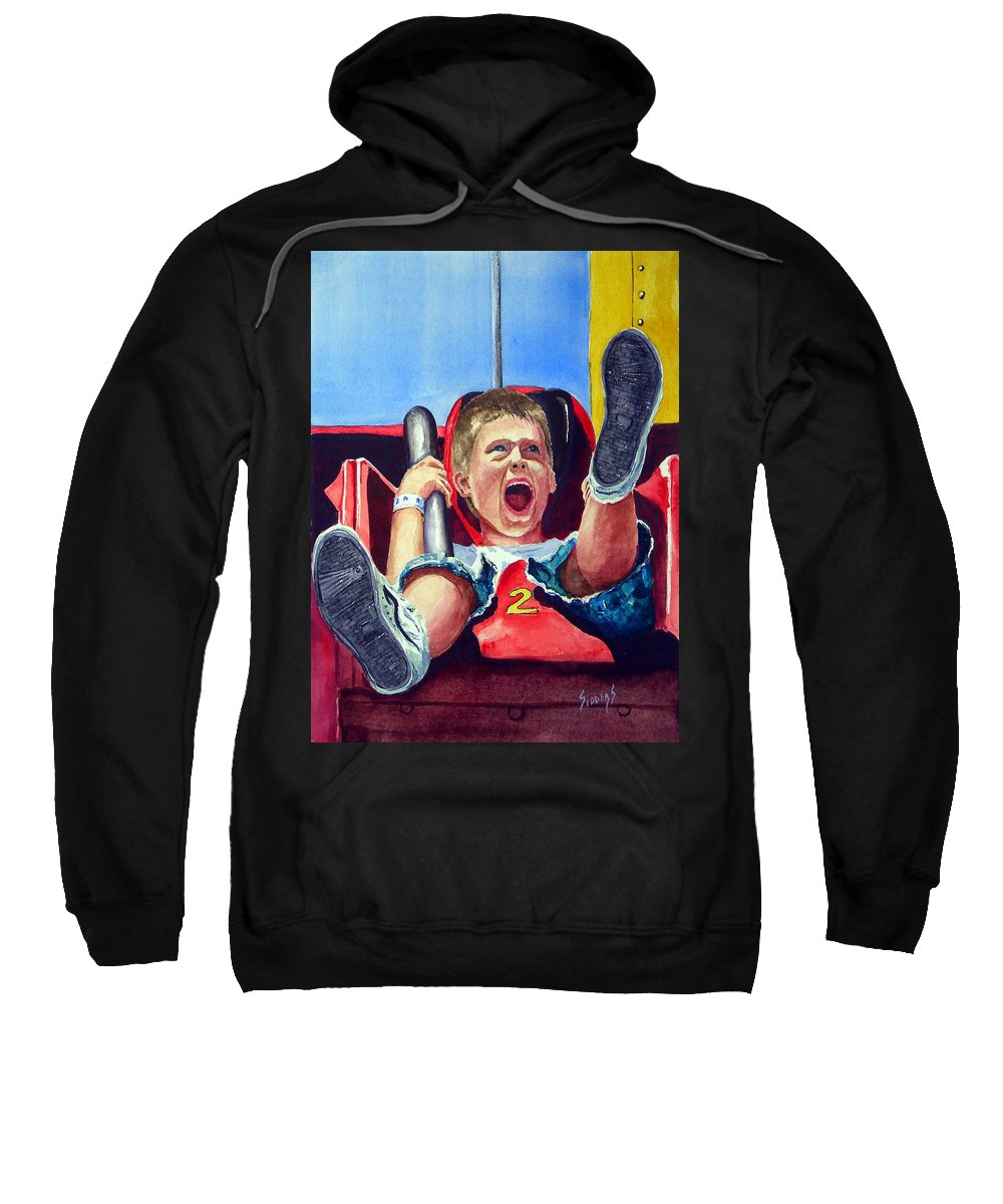Boy Sweatshirt featuring the painting Goin' Down by Sam Sidders