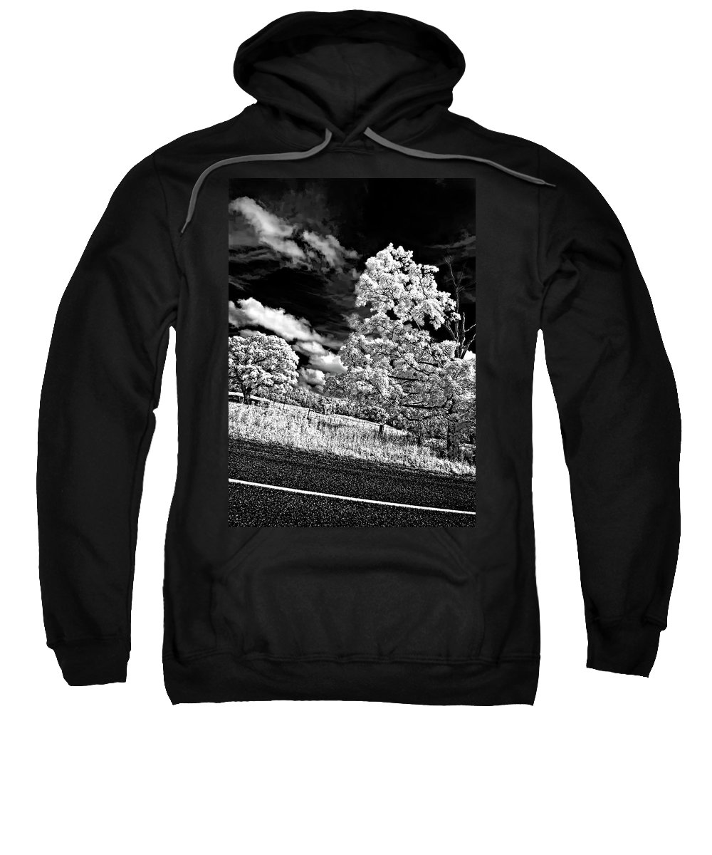Infrared Sweatshirt featuring the photograph Goin' Down The Road 2 by Steve Harrington