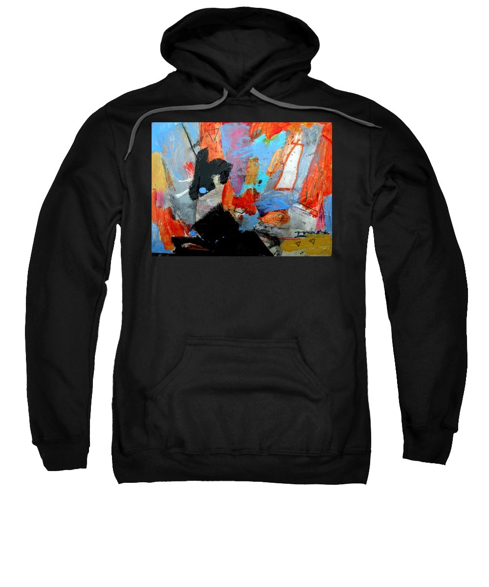 Mixed Media Sweatshirt featuring the painting Going Through The Fire 2 by Janis Kirstein