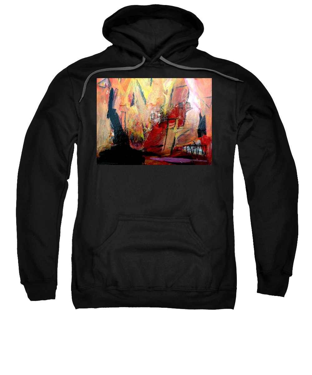Fire Sweatshirt featuring the painting Going Through The Fire 3 by Janis Kirstein