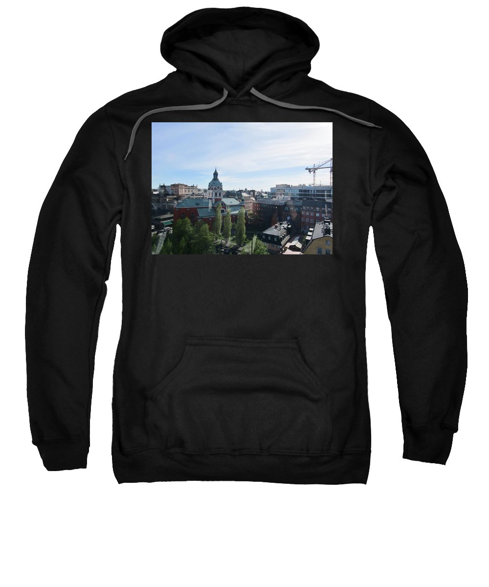 Skyview Tower Sweatshirt featuring the photograph Going Up by Rosita Larsson