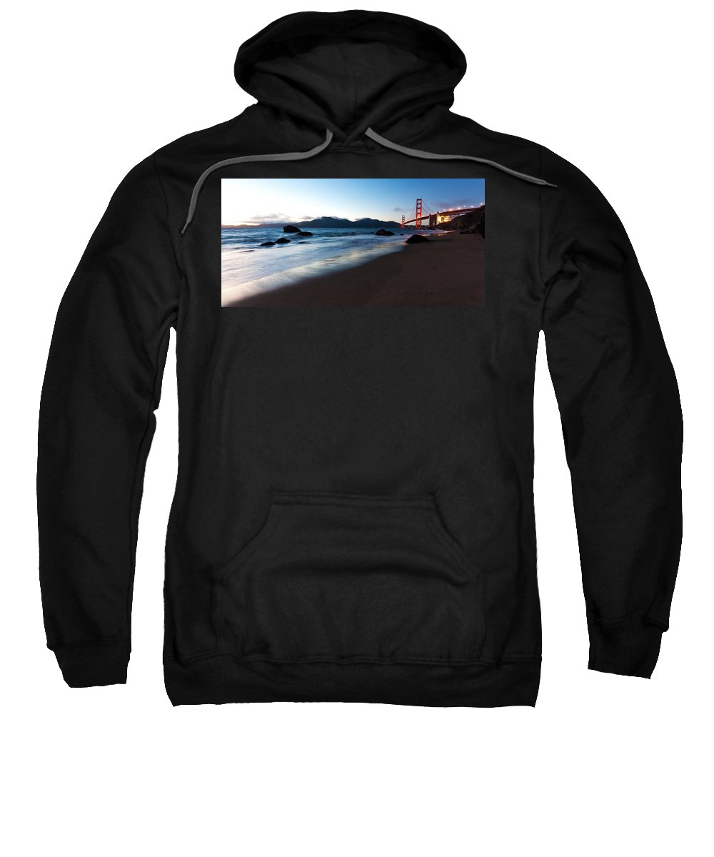Golden Gate Sweatshirt featuring the photograph Golden Gate Tranquility by Mike Reid