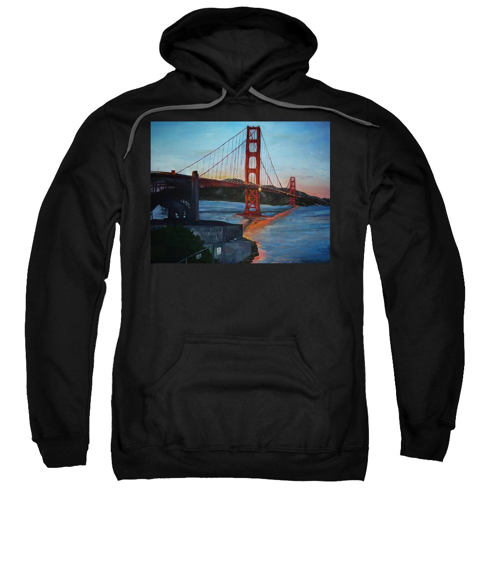 San Francisco Sweatshirt featuring the painting Golden Gate by Travis Day