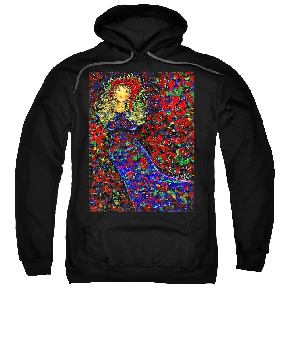 Woman Sweatshirt featuring the painting Golden Girl by Natalie Holland