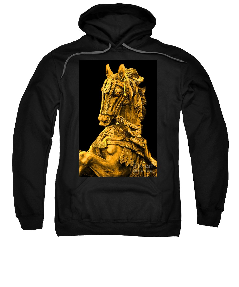 Golden Horse Sweatshirt featuring the photograph Golden Horse by Charuhas Images