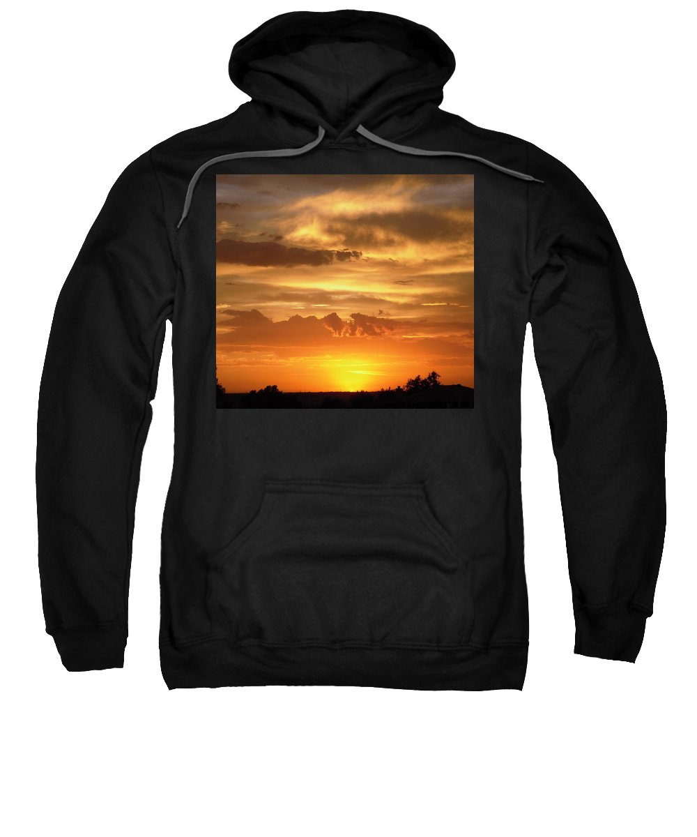Sunset Sweatshirt featuring the photograph Golden Light by Stephanie Moore