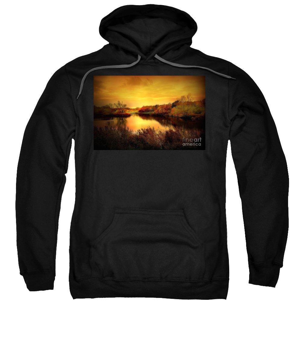 Pond Sweatshirt featuring the photograph Golden Pond by Jacky Gerritsen