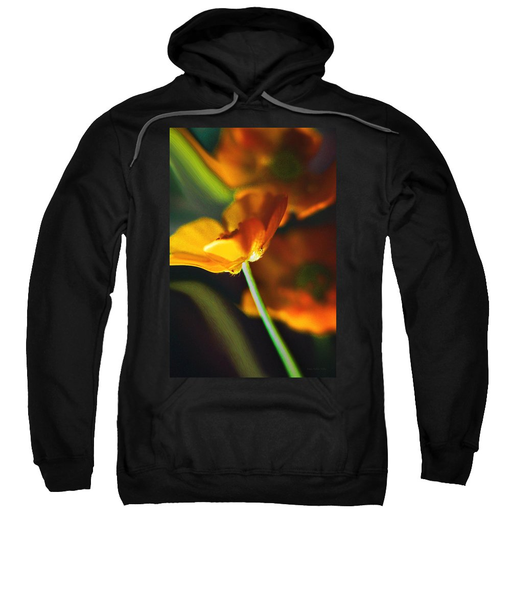 Flowers Sweatshirt featuring the photograph Golden Possibilities... by Arthur Miller