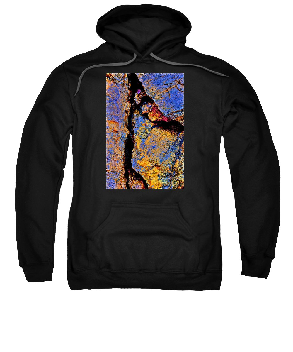 Rocks Sweatshirt featuring the photograph Golden Rocks by Cate
