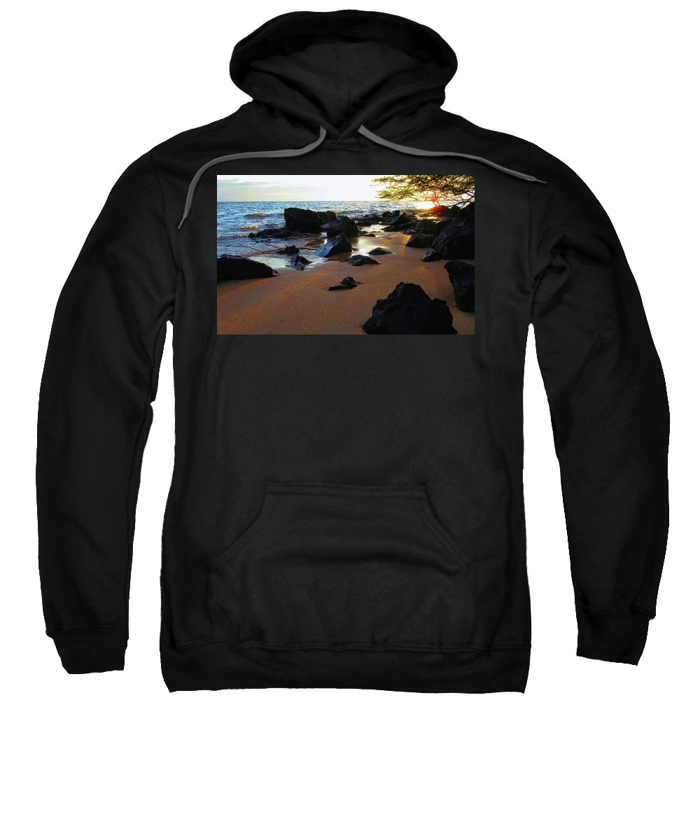 Pamela Walton Sweatshirt featuring the photograph Golden Sand by Pamela Walton