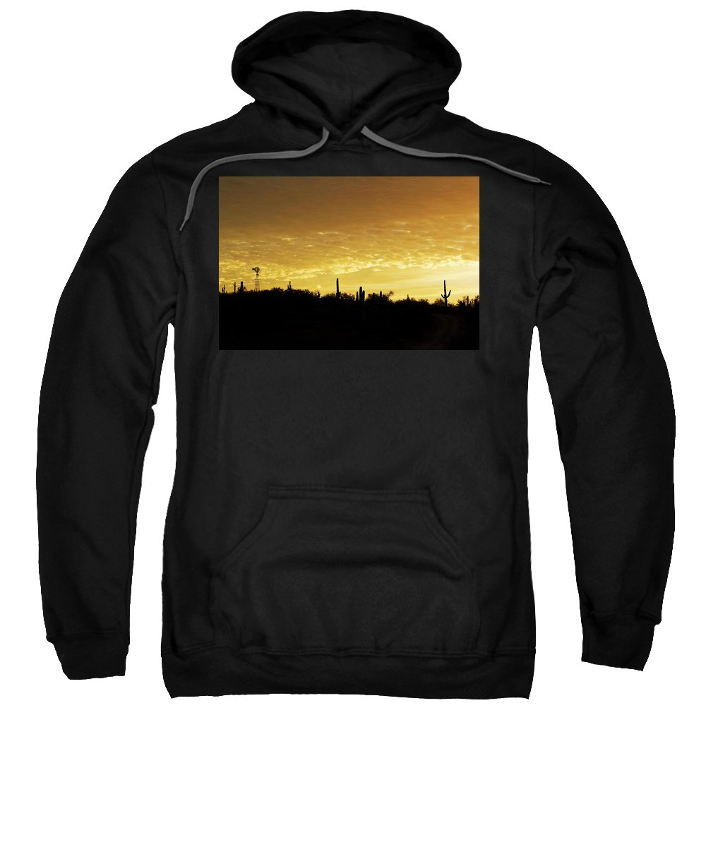 Sunrise Sweatshirt featuring the photograph Golden Sunrise by Phyllis Denton