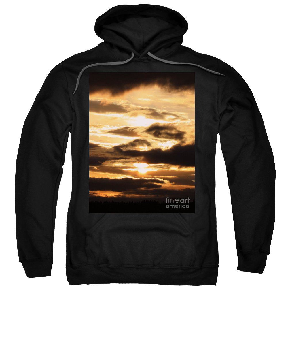 Golden Sunset Sweatshirt featuring the photograph Golden Sunset by Carol Groenen