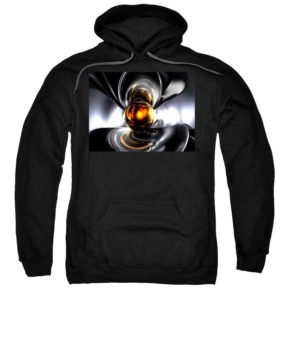 3d Sweatshirt featuring the digital art Golden Tears Abstract by Alexander Butler