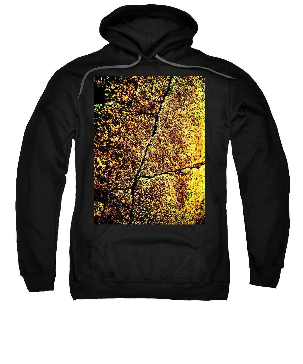 Golden Sweatshirt featuring the photograph Golden Texture Abstract by Eric Schiabor
