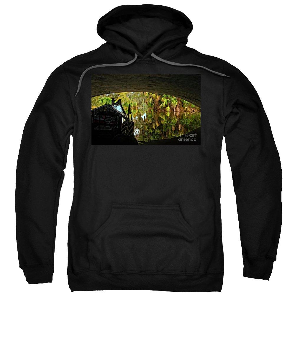 Gondola Sweatshirt featuring the photograph Gondola Under A Bridge by Kathleen K Parker