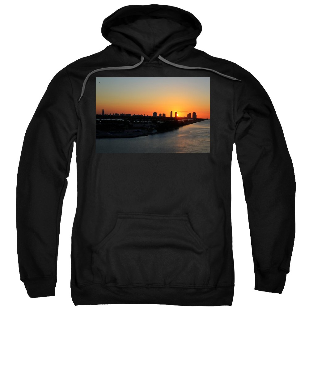 Miami Sweatshirt featuring the photograph Good Morning Miami by Shelley Neff