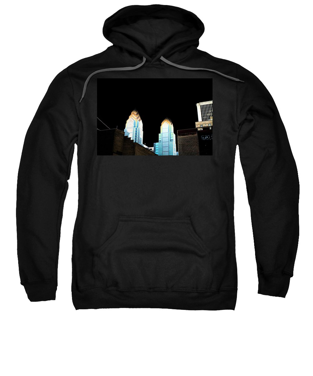 City Sweatshirt featuring the photograph Goodnight Philly by Mike Smale