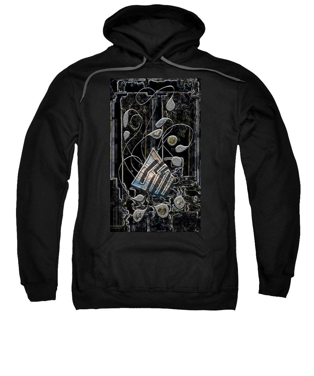 Legend Sweatshirt featuring the digital art Gordian Harp by Mark Sellers